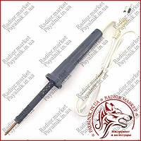 Заводской паяльник с медным жалом 220V 40W карболитовая ручка, жало 4мм