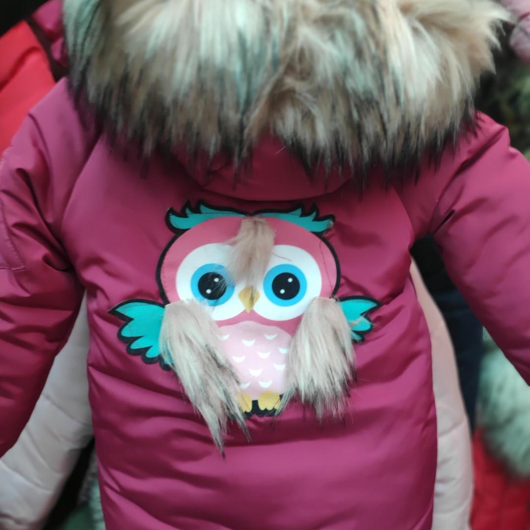 Зимняя детская куртка на холлофайбере Совушка (рр.92-104)