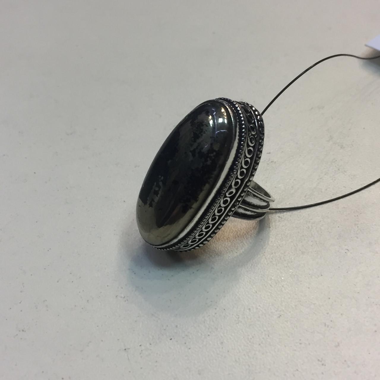 Пирит красивое кольцо с камнем пирит 16,5-17 размер кольцо с пиритом Индия!