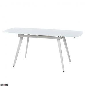 Стол LARGO MATT WHITE (Ларго Мэт Вайт) белый 120/180 от Concepto, стекло
