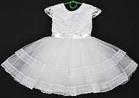 """Платье нарядное детское """"Лилия"""" с гипюром на корсете. 2-3 года. Белое. Оптом и в розницу, фото 1"""