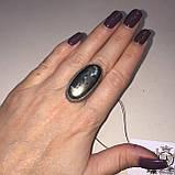 Пирит красивое кольцо с камнем пирит 16,5-17 размер кольцо с пиритом Индия!, фото 2