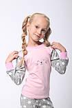 Дитяча піжама для дівчинки Dexters Щасливий кіт (розміри 128 см, 134 см), фото 5