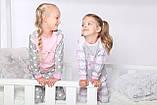 Дитяча піжама для дівчинки Dexters Щасливий кіт (розміри 128 см, 134 см), фото 6