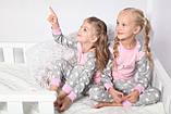 Дитяча піжама для дівчинки Dexters Щасливий кіт (розміри 128 см, 134 см), фото 8
