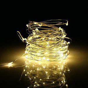 """Гирлянда Нить """"Капля Росы"""" 200 LED, Длина 15 м, Теплый Белый, Питание 220V"""