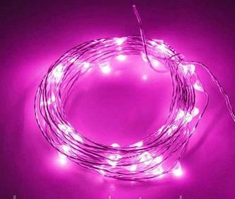 Гирлянда Нить Капля Росы 100 LED, Длина 10 м, На Батарейках