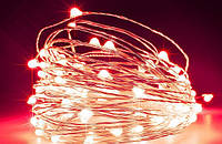 Гирлянда Нить Роса 100 LED 10 м, На Батарейках АА 3шт