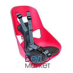 Легковесное Детское переднее велокресло, прочный пластик, на мужскую раму или багажник, розовый