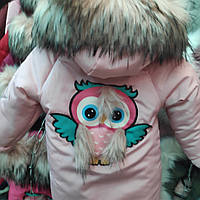 Зимняя куртка на девочку Совушка (рр.92-128), фото 1
