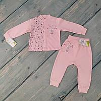 Комплект одежды ясельный для девочки (интерлок), р. 80 ТМ Happy Tot