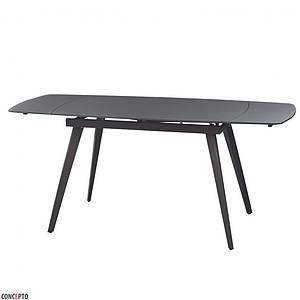 Стол LARGO MATT GREY (Ларго Мэт Грей) серый 120/180 от Concepto, стекло