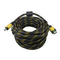 Усиленный кабель LVD удлинитель в обмотке 20 м Hdmi to Hdmi 1080p