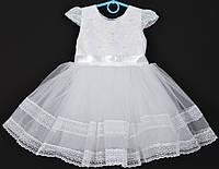 """Платье нарядное детское """"Лилия"""" с блестками на корсете. 2-3 года.Белое. Оптом и в розницу, фото 1"""