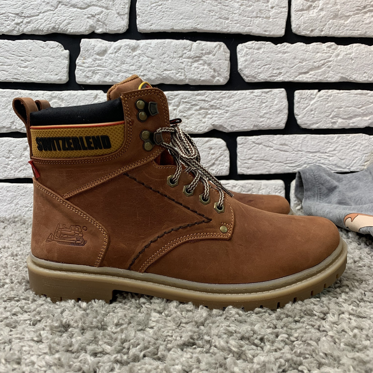 Зимние ботинки (на меху) мужские Switzerland 13025 ⏩ [ 41,42,43,45 ]