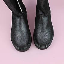 Зимние кожаные сапоги для девочки натуральный мех тм Bi&Ki размер 34, фото 3