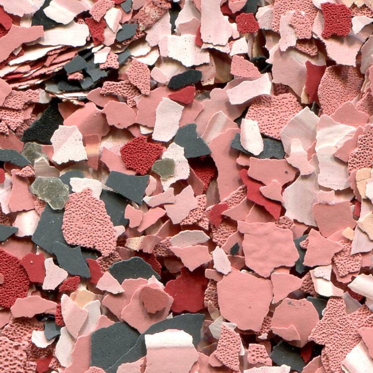 Вінілові чіпси, Sunset, відро 3 кг. Цветные чипсы для напольных покрытий. Розмір 3 (3-5 мм).