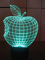 3d-светильник Яблоко, 3д-ночник, несколько подсветок (на пульте)