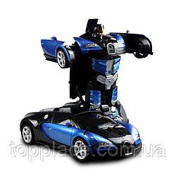 Радиоуправляемый автомобиль-трансформер Bugatti 577, Синий (RM101001169)