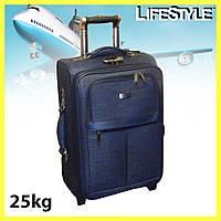 Великий дорожній чемодан на силіконових колесах GOLDEN HORSE, фото 1