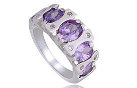 Кольцо с фиолетовым камнем размер 18 VSH