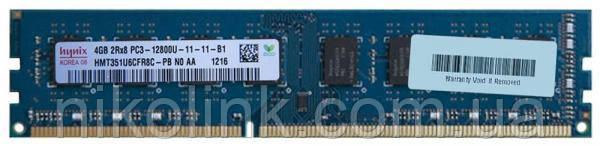 Память Hynix DDR3 4GB PC3-12800U (1600Mhz) (HMT351U6CFR8C-PB)(8x2) - Б/У