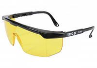 Очки открытые защитные YATO открытые жёлтые