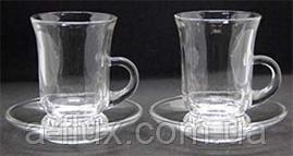 Набор стаканов с блюдцами 6х125мл для чая 16902-1