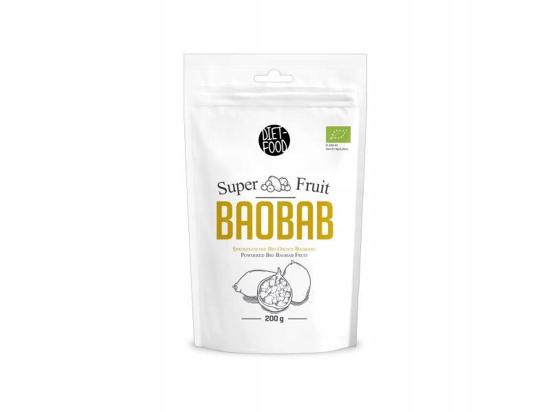 Органический порошок из плодов баобаба Diet Food Baobab 200 г