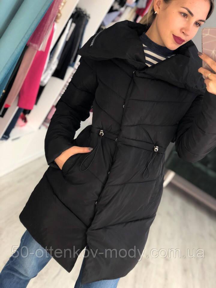 Женская куртка удлиненная евро зима