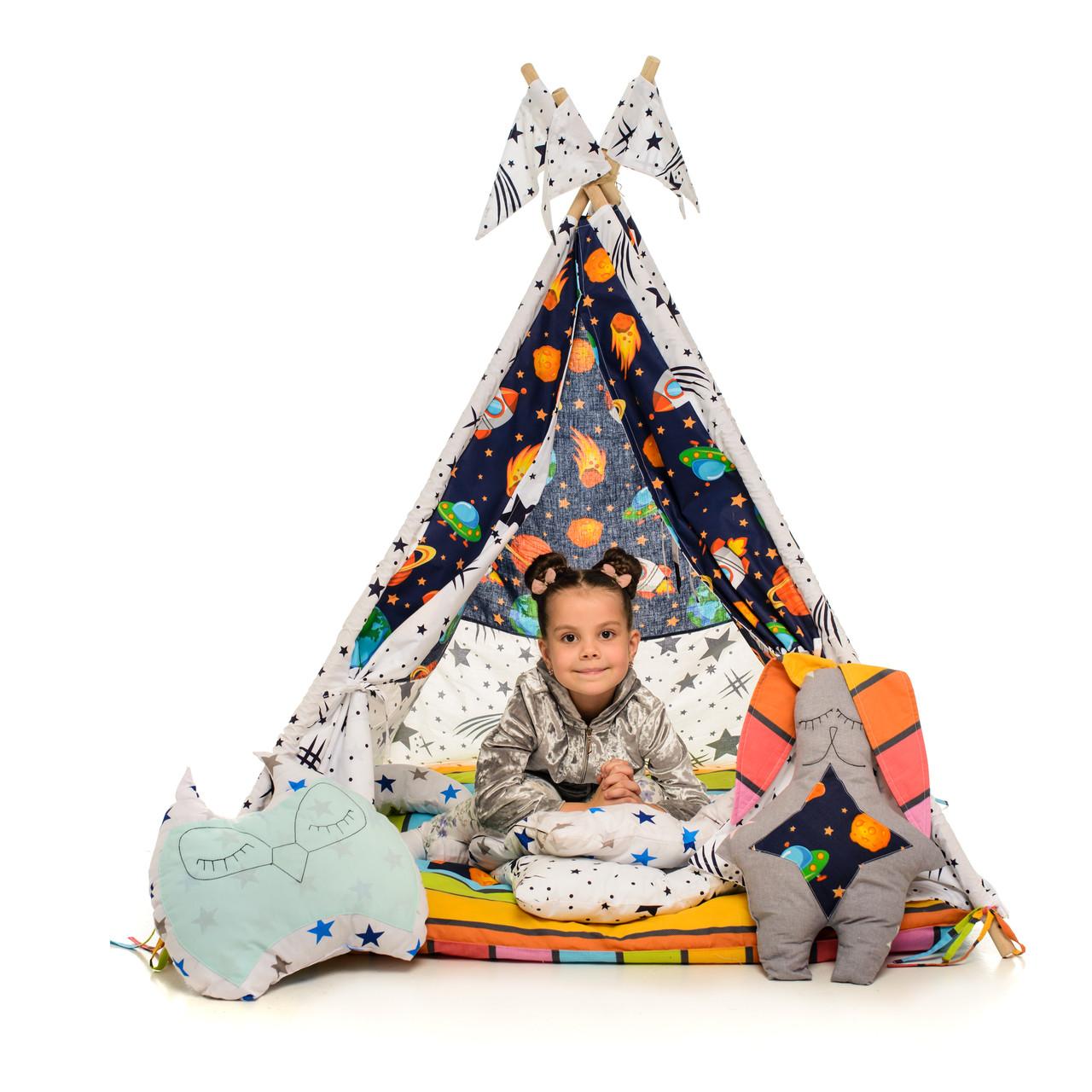 Вигвам детский игровая палатка звезды