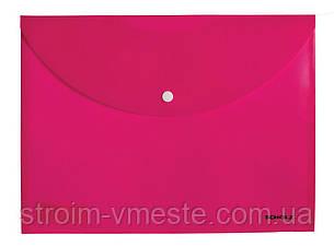 Папка конверт на кнопке SCHOLZ 5700 А4 РР 180 мкм цвета в ассортименте