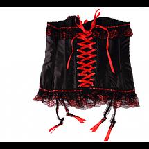 Корсет черно-красный с бантиками Lamerli, фото 2