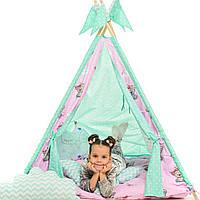 """Вигвам детский игровая палатка """"Медведи Pink"""""""