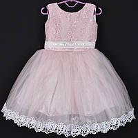 """Платье нарядное детское """"Гортензия"""". 2-4 года. Пудра. Оптом и в розницу, фото 1"""