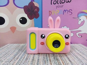 Детский фотоаппарат с видео записью digital camera в чехле зайчик