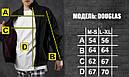 Куртка мужская черная на манжетах бренд ТУР модель Дуглас (Douglas), фото 4