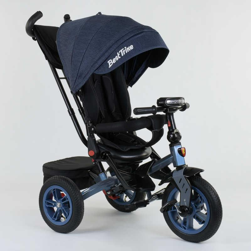 Велосипед 3-х колёсный 9500 - 9154 Best Trike (1) ПОВОРОТНОЕ СИДЕНЬЕ, СКЛАДНОЙ РУЛЬ, РУССКОЕ ОЗВУЧИВАНИЕ, СВЕТ, НАДУВНЫЕ КОЛЕСА