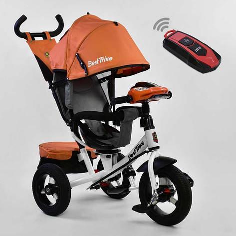 Велосипед 7700 В - 6090 Best Trike (1) ПУЛЬТ ВКЛЮЧЕНИЯ СВЕТА И ЗВУКА, ПОВОРОТНОЕ СИДЕНЬЕ, НАДУВНЫЕ КОЛЕСА переднее колесо d=29см. задние d=26см, фото 2