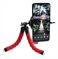 🔝 Универсальный штатив Осьминог, держатель для телефона и фотоаппарата, красный, , Аксессуары для мобильных устройств