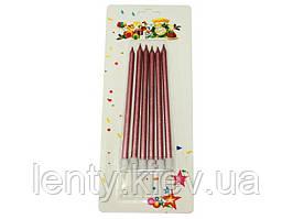 Свічки Довгі (6 штук) Рожеве Золото_металлик