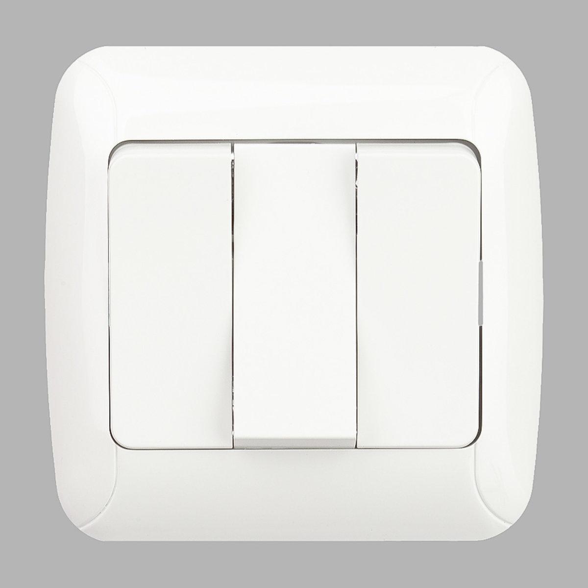 Fantasy вимикач 3-ої білий