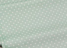 Сатин-твил Мелкие горошки на пыльно-зеленом