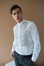Мужская рубашка льнаная вышиванка, фото 3