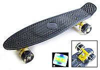 Пенниборд Penny Board Carbon Светящиеся колеса
