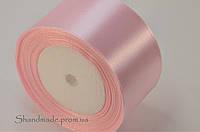 Атласная лента розовая 5 см (рулон)