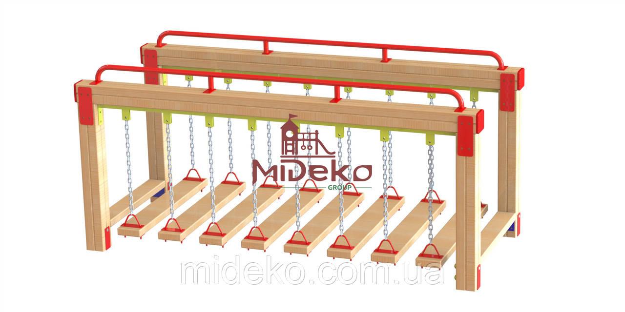 Мостик гимнастический на цепях МИДЕКО