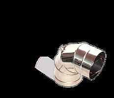 Версия-Люкс (Кривой-Рог) Колено (0-90) поворотное, из нержавейки, диаметр 100мм