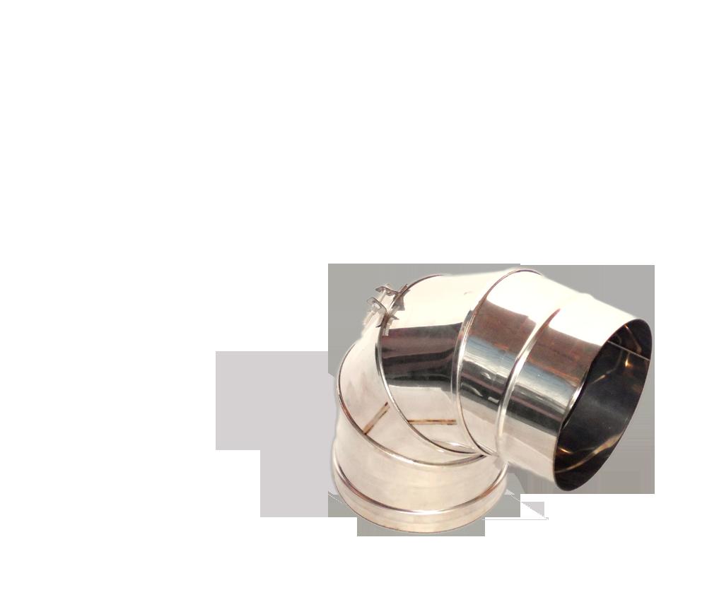 Версия-Люкс (Кривой-Рог) Колено (0-90) поворотное, из нержавейки, диаметр 110мм