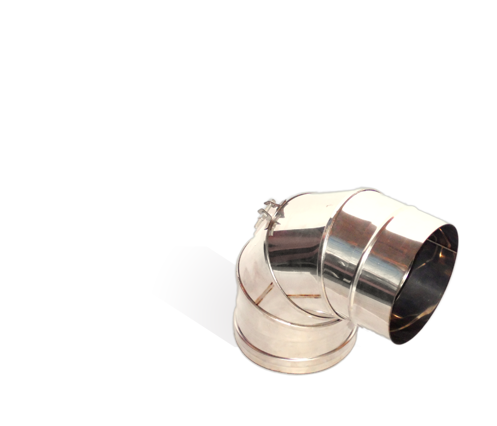 Версия-Люкс (Кривой-Рог) Колено (0-90) поворотное, из нержавейки, диаметр 300мм